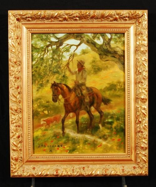 """13: J. N. Swanson CA Spring Gather"""" Oil Painting"""""""