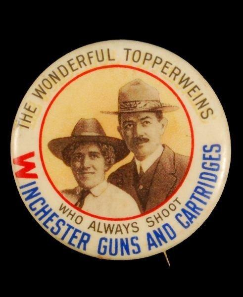 20: Winchester Ad Topperwein Pinback