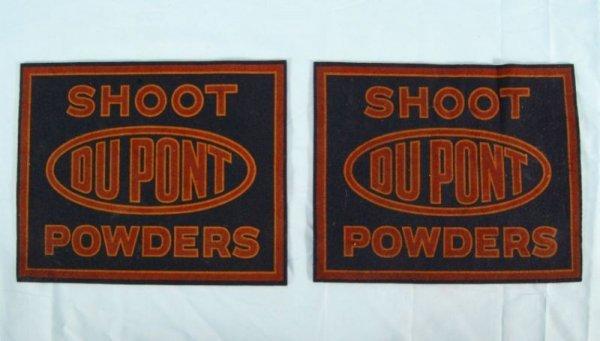 21: Pair of Dupont Gun Powders Advertising Felts