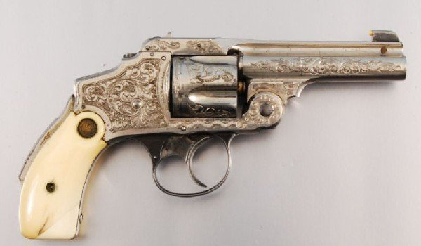 26: Smith & Wesson Period Engraved Lemon Squeezer .38