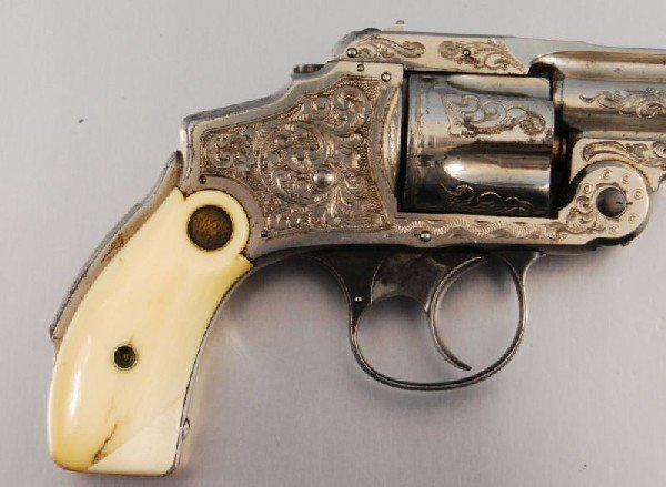 26: Smith & Wesson Period Engraved Lemon Squeezer .38 - 2
