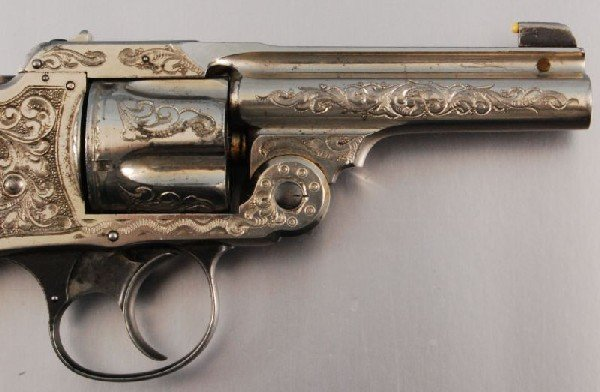 26: Smith & Wesson Period Engraved Lemon Squeezer .38 - 3