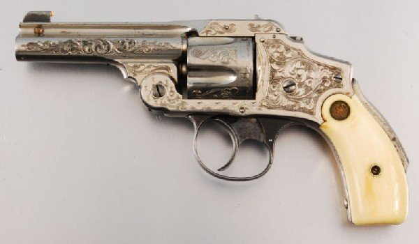 26: Smith & Wesson Period Engraved Lemon Squeezer .38 - 4