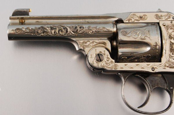 26: Smith & Wesson Period Engraved Lemon Squeezer .38 - 6