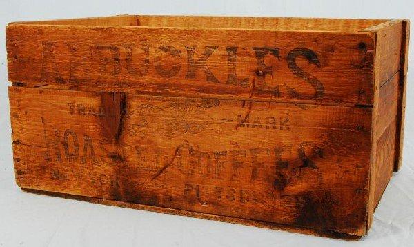 343: Arbuckles Coffee Wood Crate
