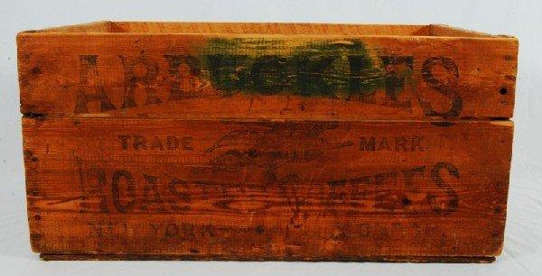 343: Arbuckles Coffee Wood Crate - 3