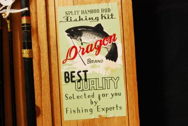432: Vintage Dragon Brand Fishing Rod in Box - 6