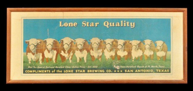 23: Lonestar Brewing Co. Hereford Sign Ft. Worth Texas