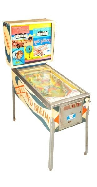 26: Red Baron Pinball Machine Chicago Coin