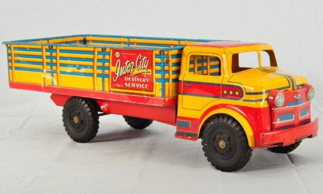 29: Marx Lumar Inter City Delivery Tin Toy Truck