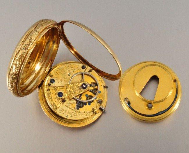 101B: 18 Kt. Gold Pocket Watch John Harrison - 6