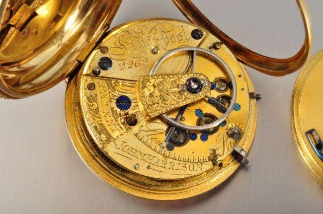 101B: 18 Kt. Gold Pocket Watch John Harrison - 7