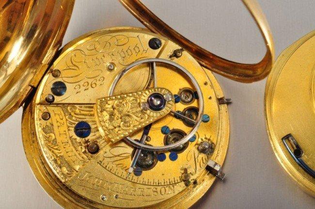 101B: 18 Kt. Gold Pocket Watch John Harrison - 8
