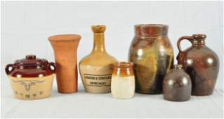 410: Collection of 7 Stoneware Vessels