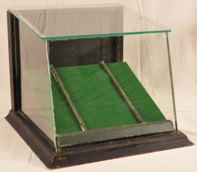 436: Slant Front  Countertop Glass Display Case - 2