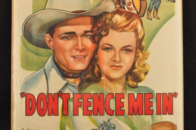 1: Roy Rogers Don't Fence Me In Movie Poster RR - 3