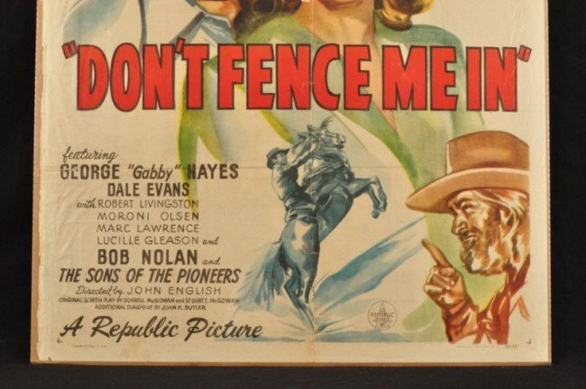 1: Roy Rogers Don't Fence Me In Movie Poster RR - 4