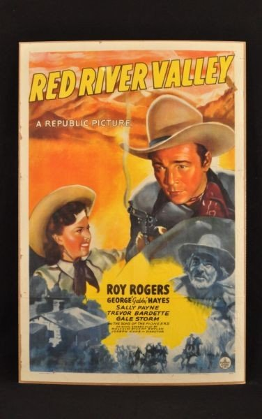 2: Roy Rogers Red River Valley Movie Poster RR