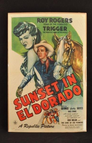 3: Roy Rogers Sunset in El Dorado Movie Poster RR