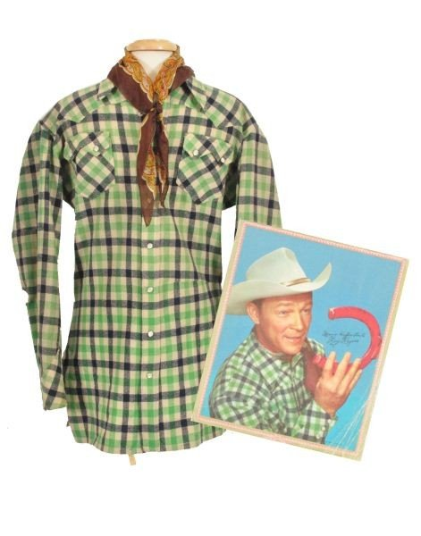 4: Roy Rogers Nudie's Rodeo Tailor Western Shirt RR