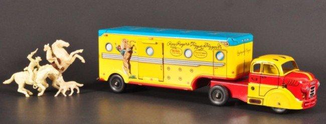 9: Roy Rogers & Trigger Marx Tin Toy Truck RR