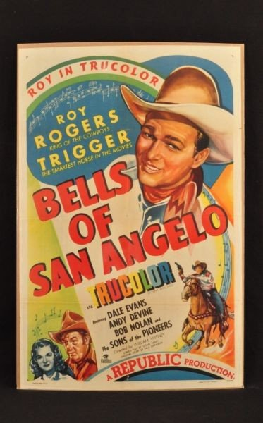 10: Roy Rogers Bells of San Angelo Movie Poster RR