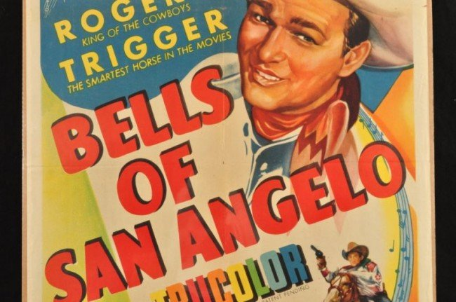 10: Roy Rogers Bells of San Angelo Movie Poster RR - 3