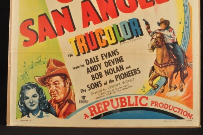10: Roy Rogers Bells of San Angelo Movie Poster RR - 4