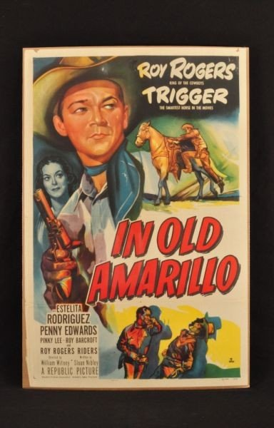 11: Roy Rogers In Old Amarillo Movie Poster RR