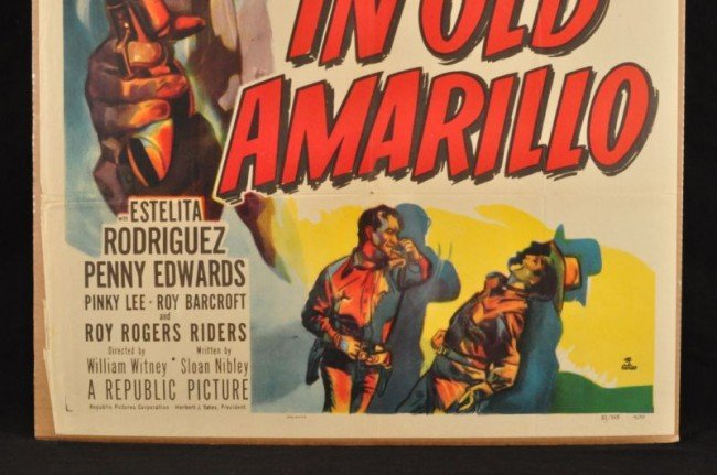 11: Roy Rogers In Old Amarillo Movie Poster RR - 4