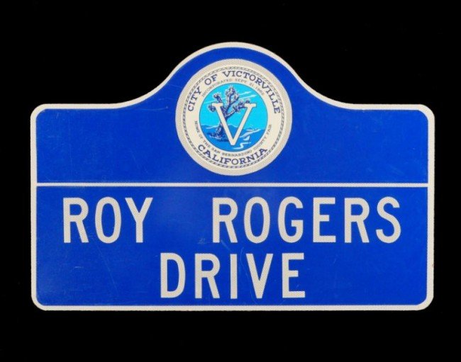 13: Roy Rogers Drive Victorville California Sign RR