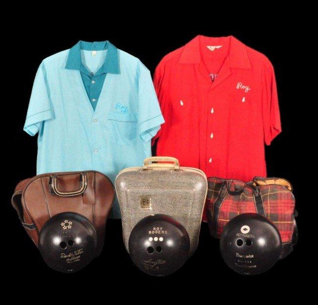 21: Roy Rogers' 3 Bowling Balls & 2 Shirts RR