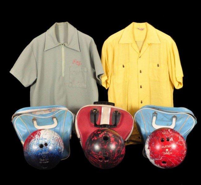 22: Roy Rogers' 3 Bowling Balls & 2 Bowling Shirts RR