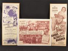 676: Three Vintage Roy Rogers Movie Posters RR