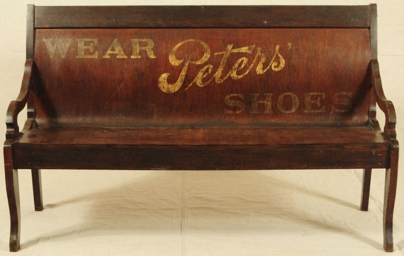 Peter's Shoes Advertising Bench