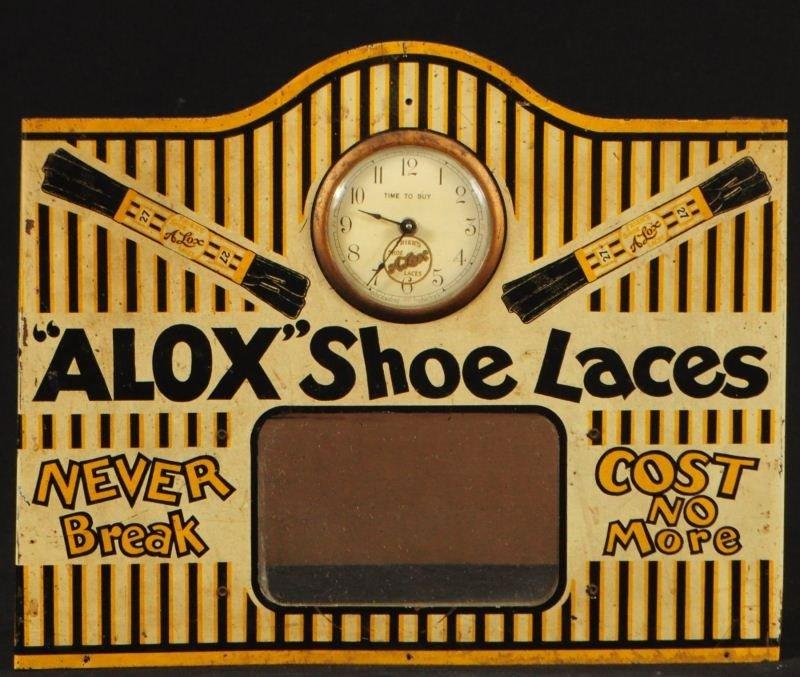 Alox Shoe Laces Advertising Clock Display