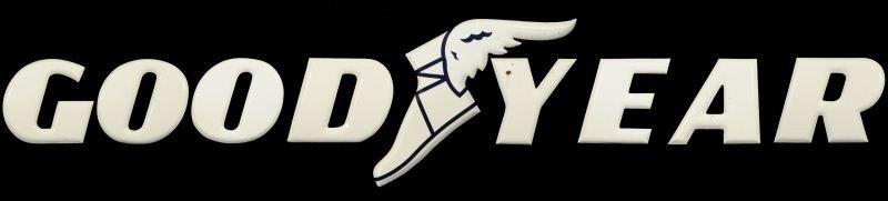 Goodyear Dealer Sign Uvalde Texas Porcelain Letter