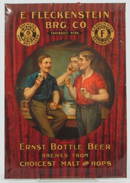 Ernst Beer Advertising Lithographed Tin Sign