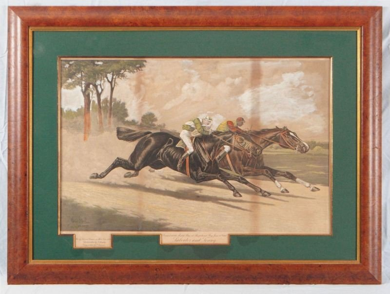"Henry Stull ""Great $10,000 Match Race"" Lithograph"