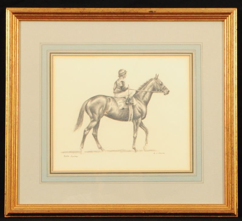 R.S. Reeves Pencil Drawing of Bold Forbes