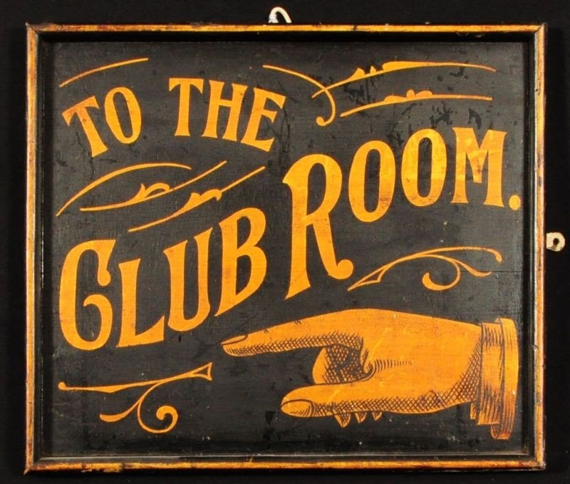 """""""To The Club Room"""" Saloon Sign Billings Montana"""