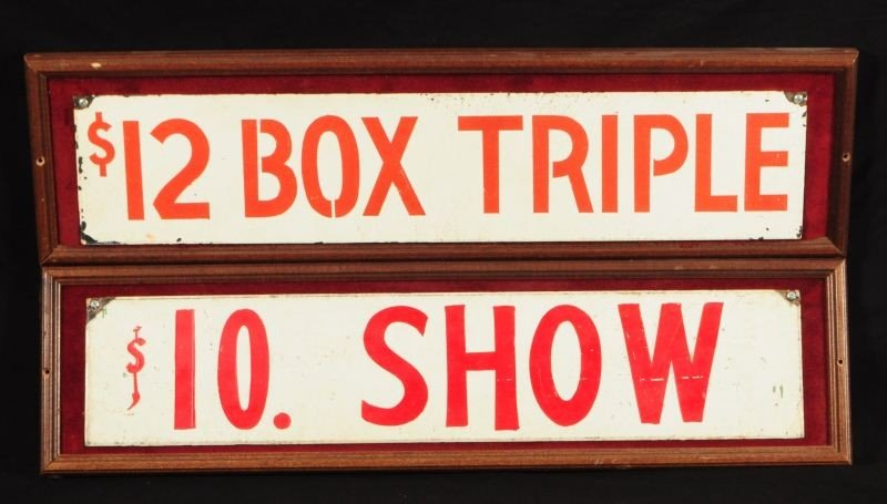 Saratoga Race Track Antique Betting Window Signs