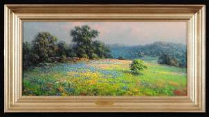 Dalhart Windberg Texas Bluebonnets Oil Painting