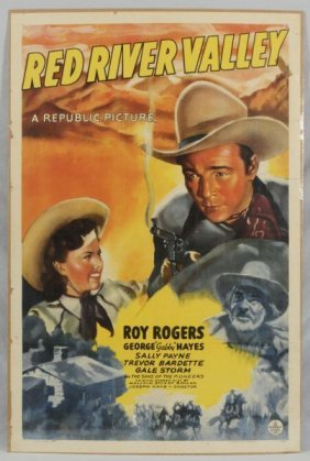 Roy Rogers Red River Valley Movie Poster