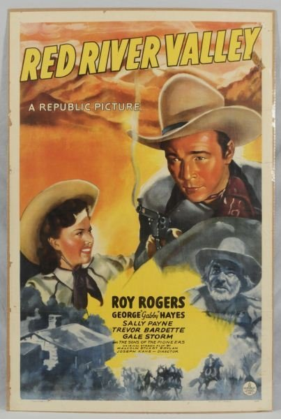 1: Roy Rogers Red River Valley Movie Poster
