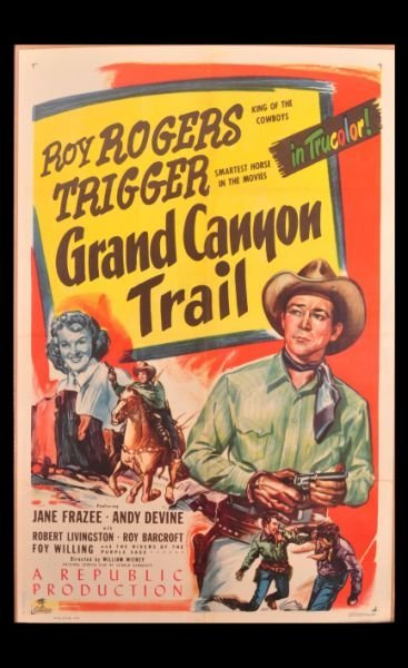 3: Roy Rogers Grand Canyon Trail Movie Poster