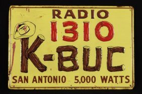 K-BUC Radio Station Tin Sign San Antonio Texas