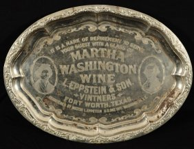 17: Fort Worth Texas Wine Advertising Tray