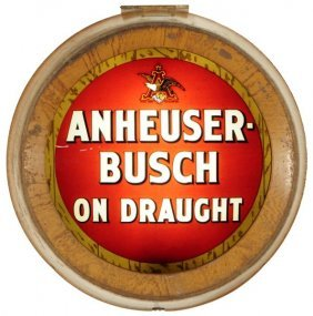 18: Anheuser Busch Reverse Painted Glass Sign