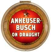 18: Anheuser Busch Reverse Painted Glass Sign